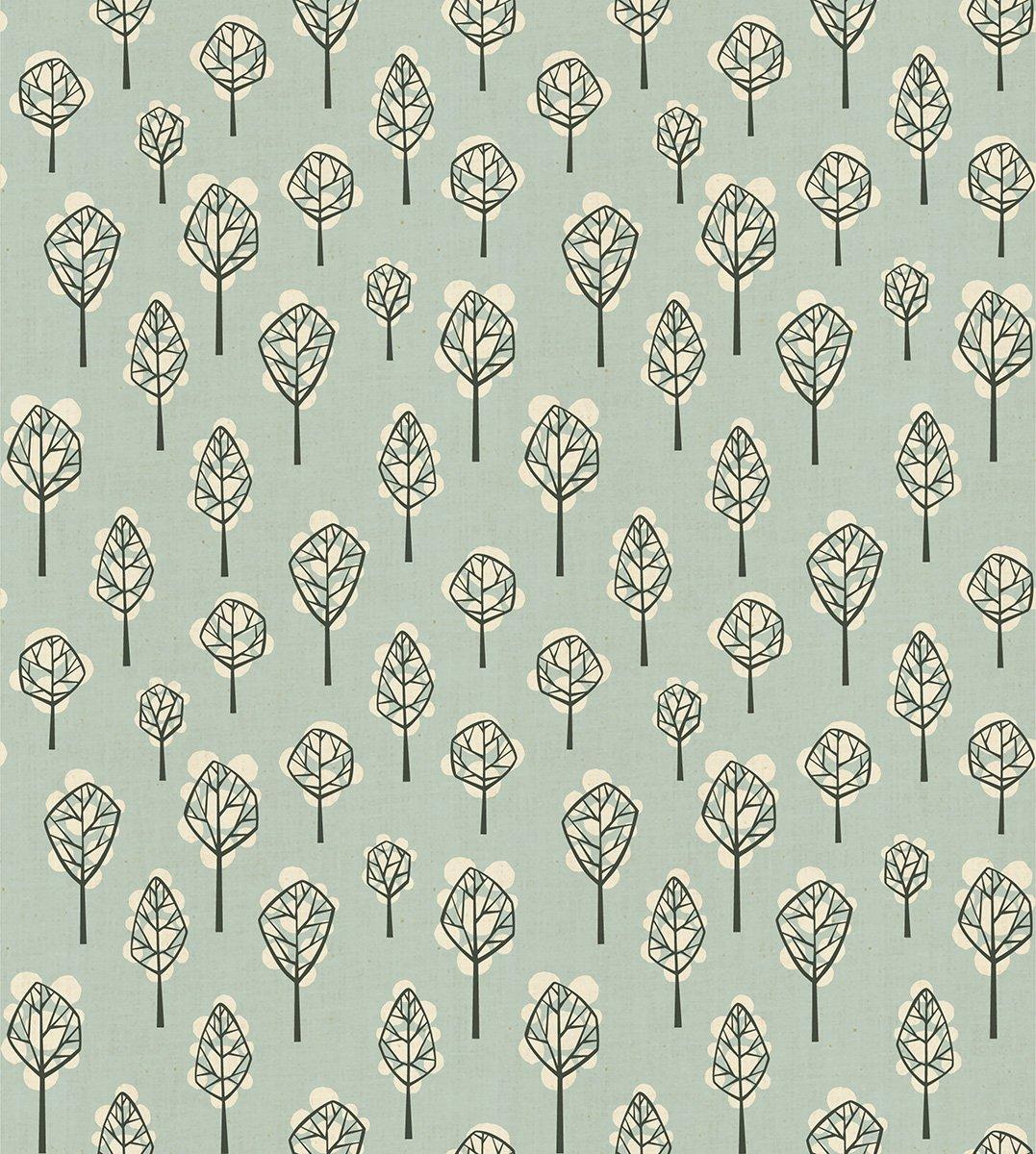 Cotton and Steel Loes Van Oosten In The Woods Beech Tree Sky LV203-SK2U