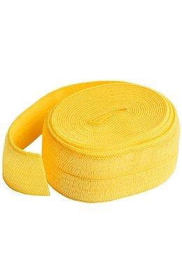Elastic- Foldover 1/2 Yellow
