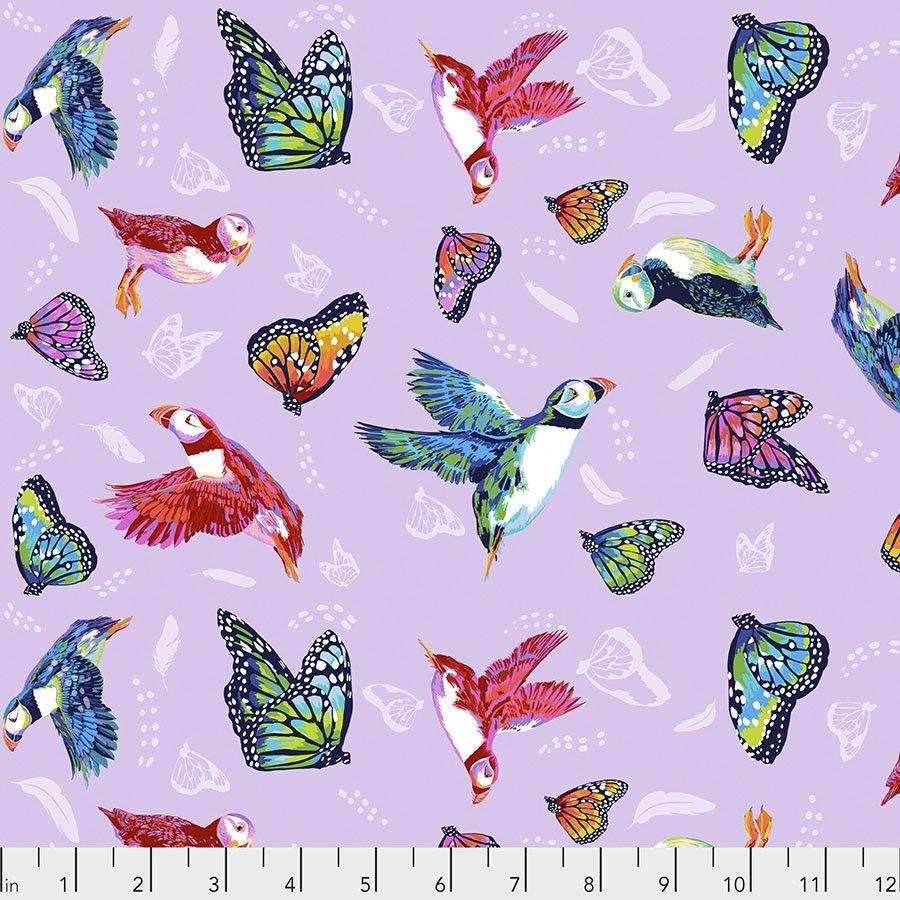 Migration-Friends in Flight - Lavender by Lorraine Turner