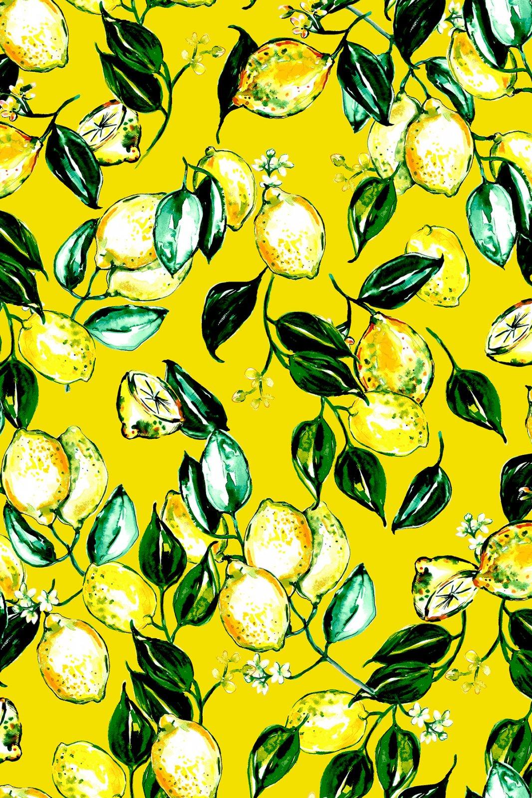Citrus Garden Lemons Yellow RJ1401-YE3