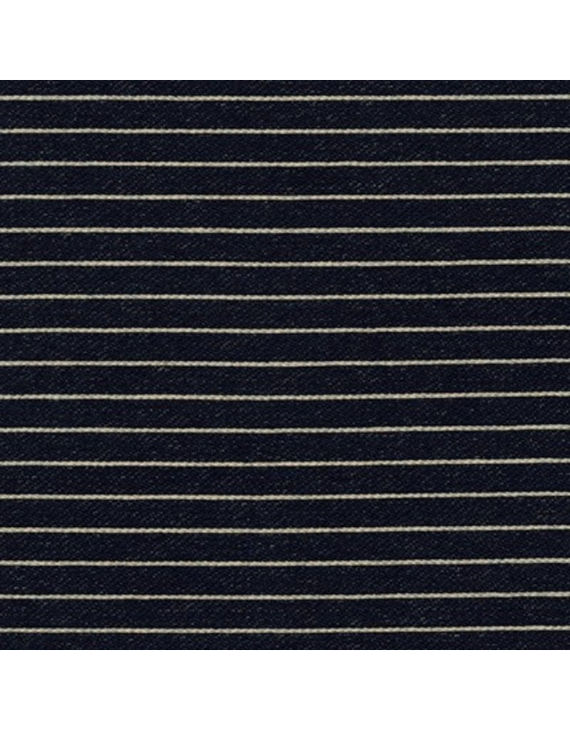 Indigo Knit Stripes Indigo Dyed 96% Cotton 4% Spandex 9.37 oz 61 SRK-16542-62