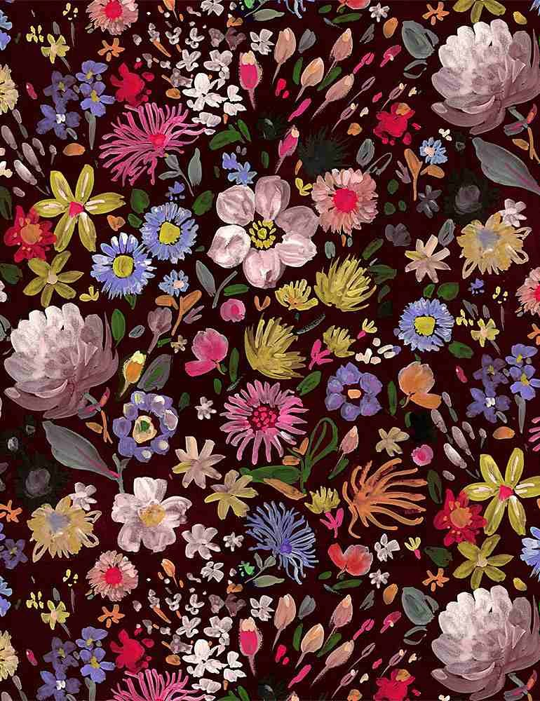 Autumn Floral Minky 58/60 100% polyester