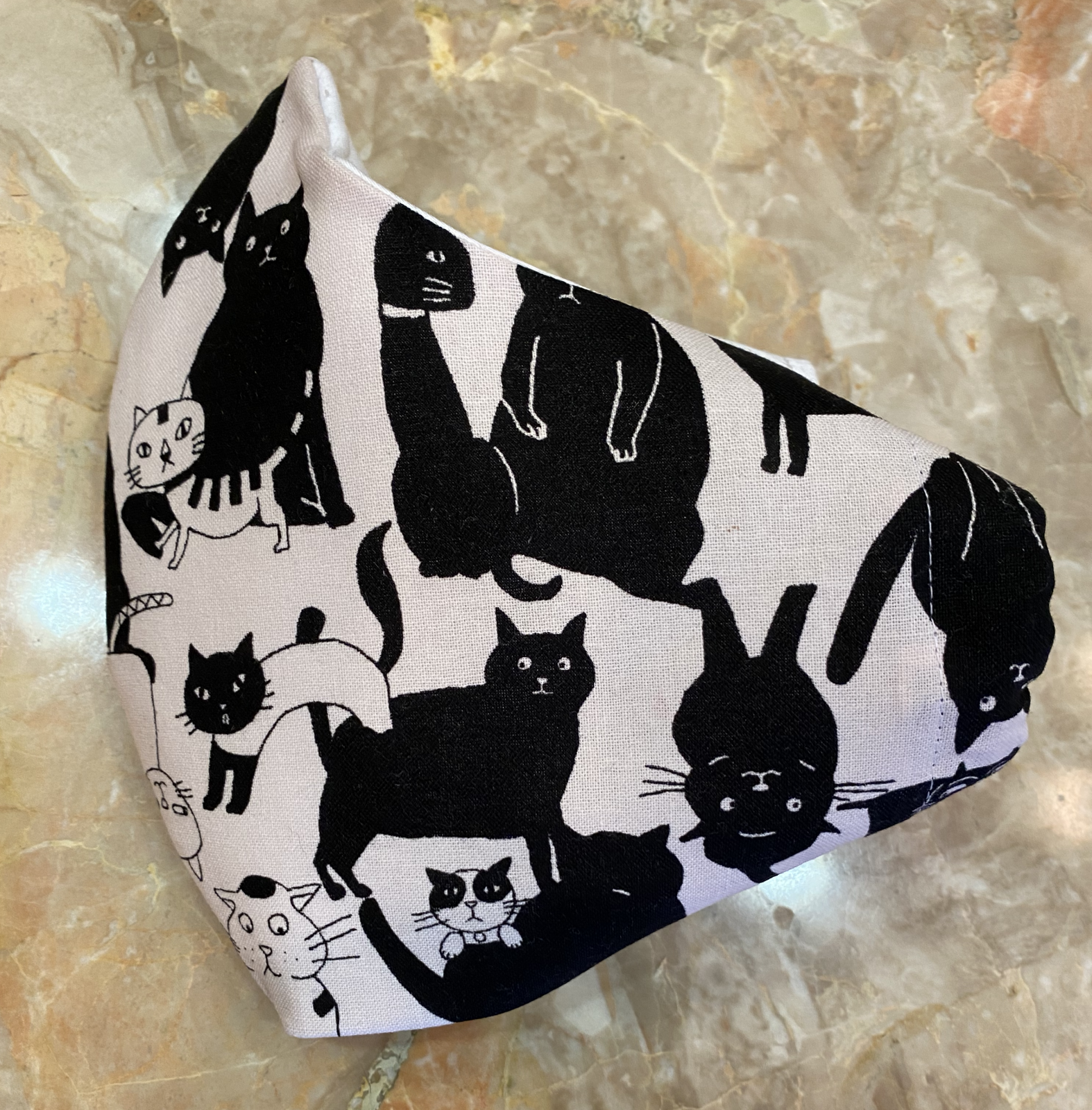 Mask Kit for 8 - Whiskers and Tails Cat Fabric