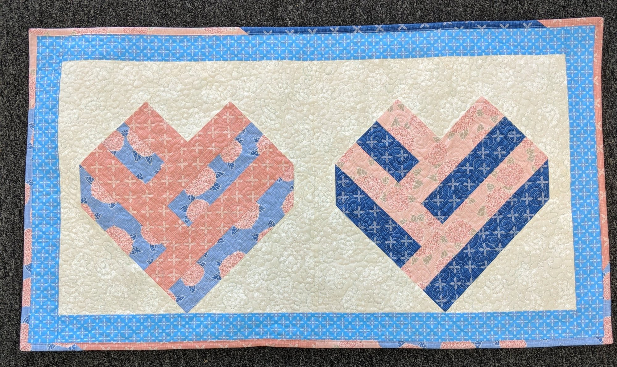 Scrapbuster - Quilted Heart Wallhaning