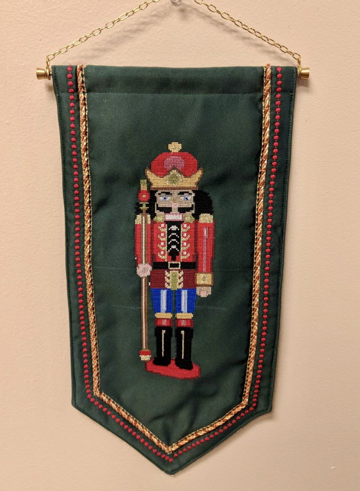 Creative Embroidery - Nutcracker Bell Pull