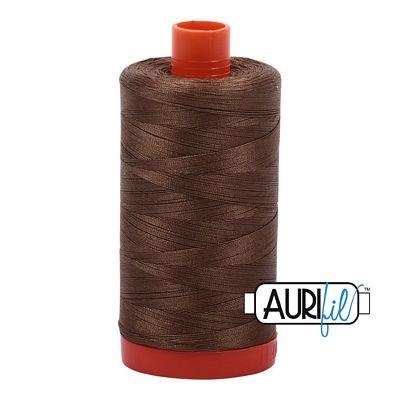 1050-1318 DARK SANDSTONE Aurifil Cotton Mako Thread 50wt 1300m