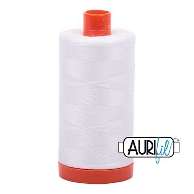 1050-2021 NATURAL WHITE  Aurifil Cotton 50wt  1300m