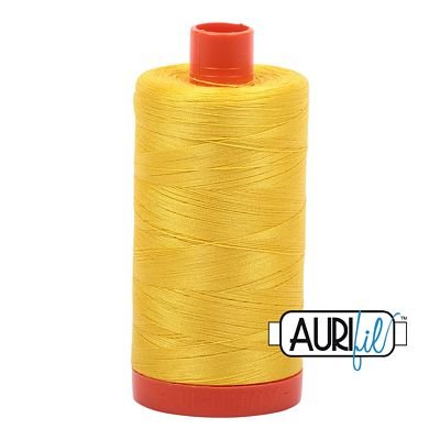 1050-2120 Canary Aurifil Cotton Mako 50wt 1300m 6/bx