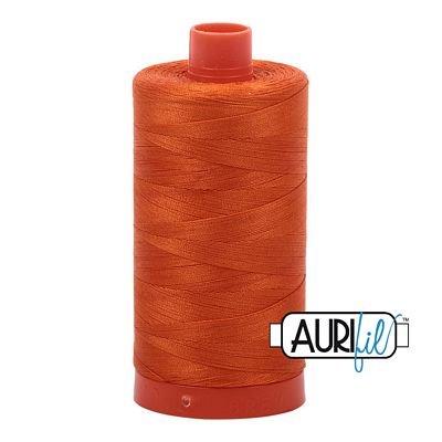 1050-2235 Orange Aurifil Cotton Mako 50wt  1300m