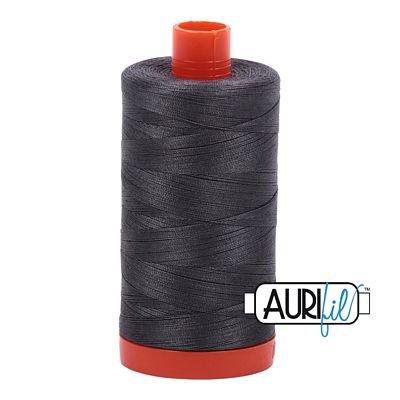 1050-2630 Pewter Aurifil Cotton Thread 50wt 1300m