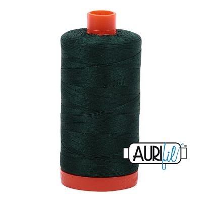 1050-4026 FOREST GREEN Aurifil Cotton Mako Thread 50wt 1300 m