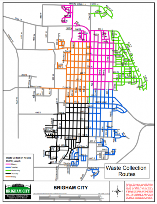 map of garbage collection routes