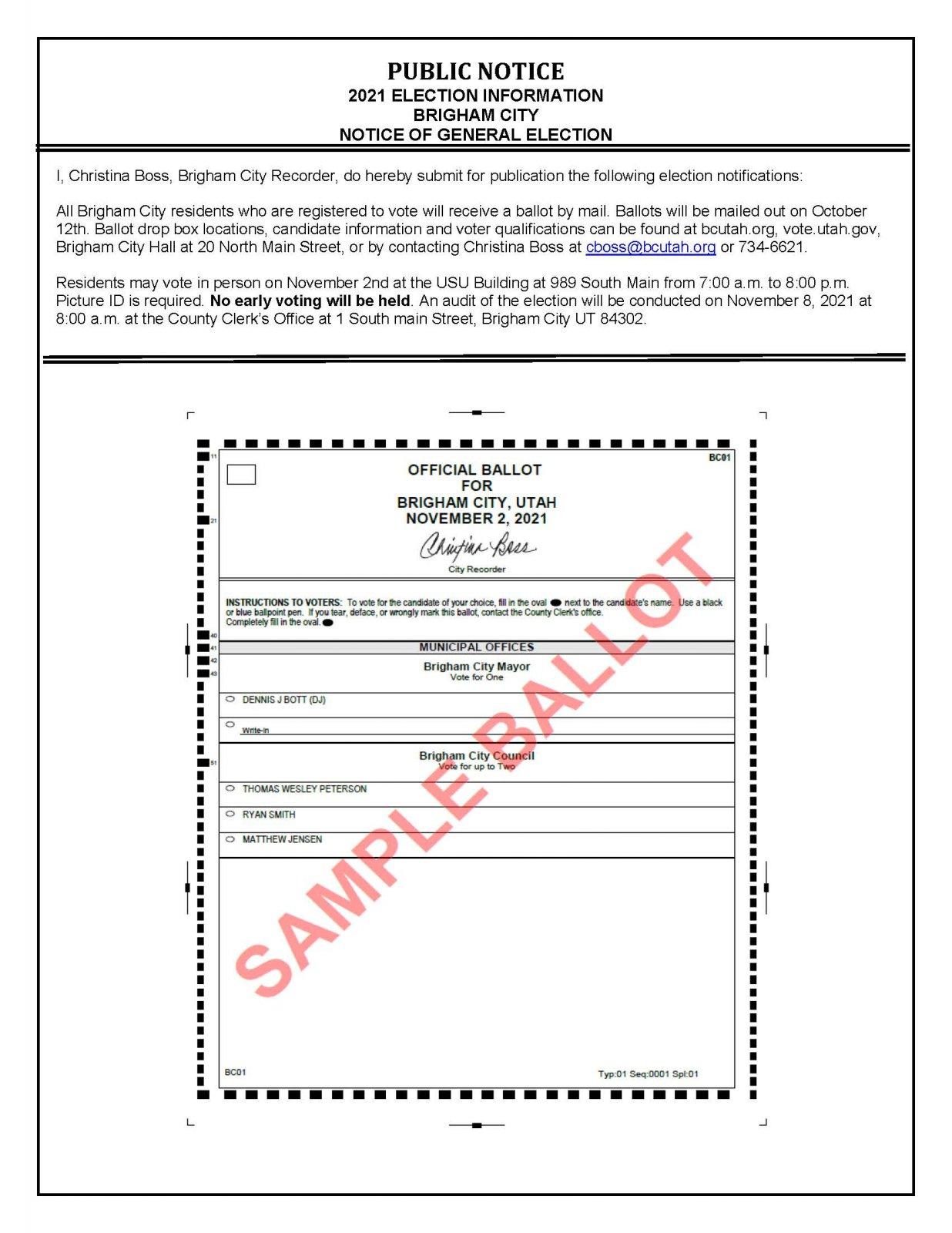General Election Notice