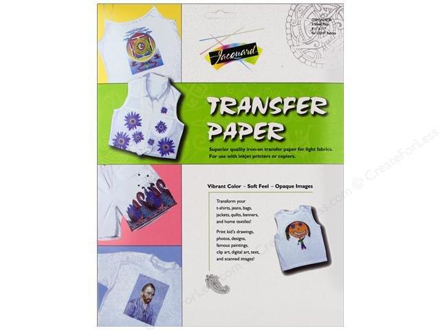 Jacquard Transfer Paper For Light Fabrics 3pc