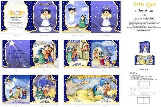 Elizabeth's Studio- Blue Little Light Softbook Panel 1825E-BLU