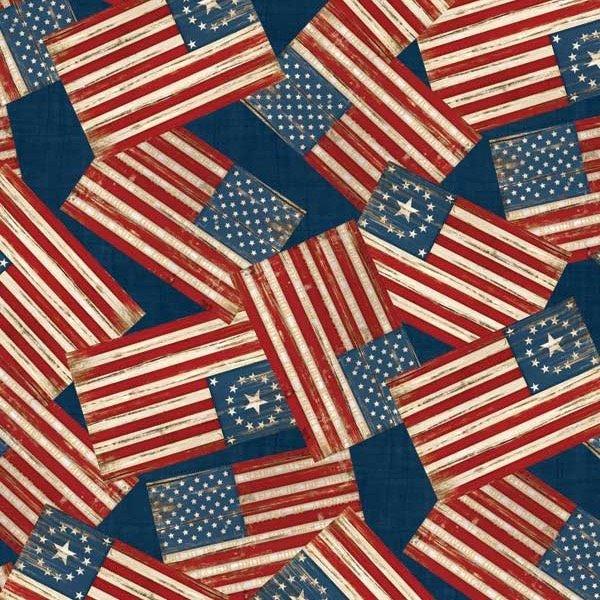 Wilmington Prints- Colors of Freedom 1828 82465 434