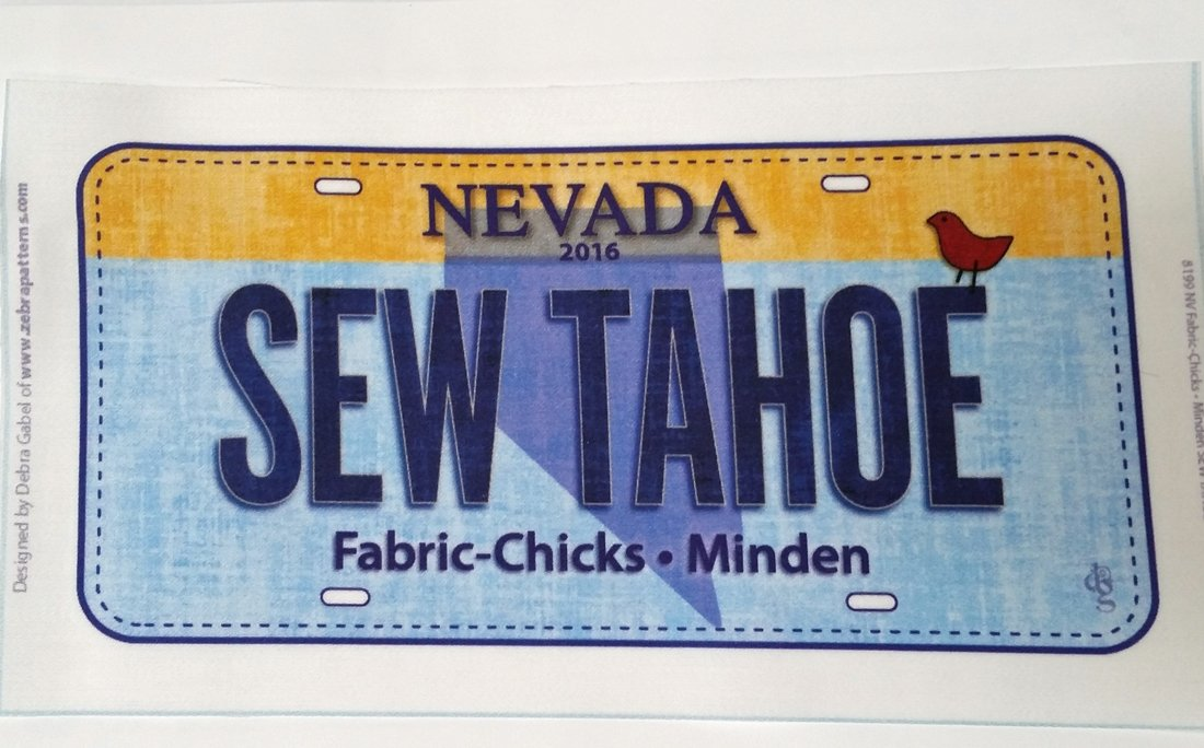 Fabric Chicks Fabric Plate- Sew Tahoe 2016