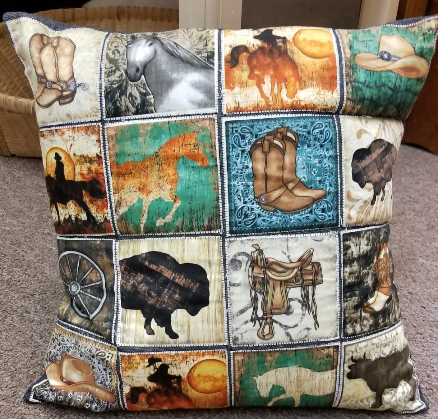 Unbridled Patch Pillow