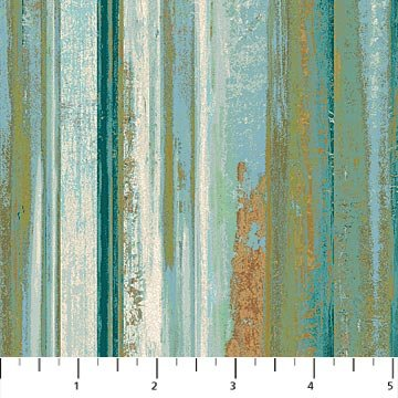 Northcott- Reflections 22953 66 Teal Multi