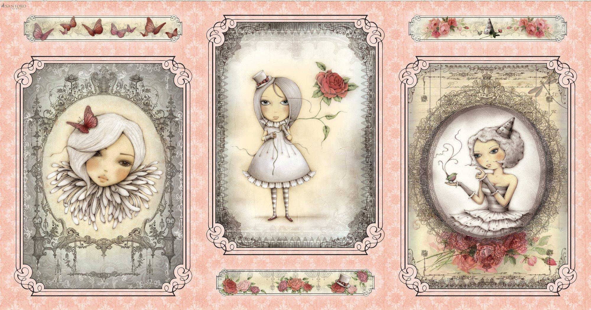 Quilting Treasures- La Vie En Rose 24258-P Panel
