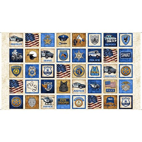 Quilting Treasures-Protect & Serve 1649-26126-E Panel