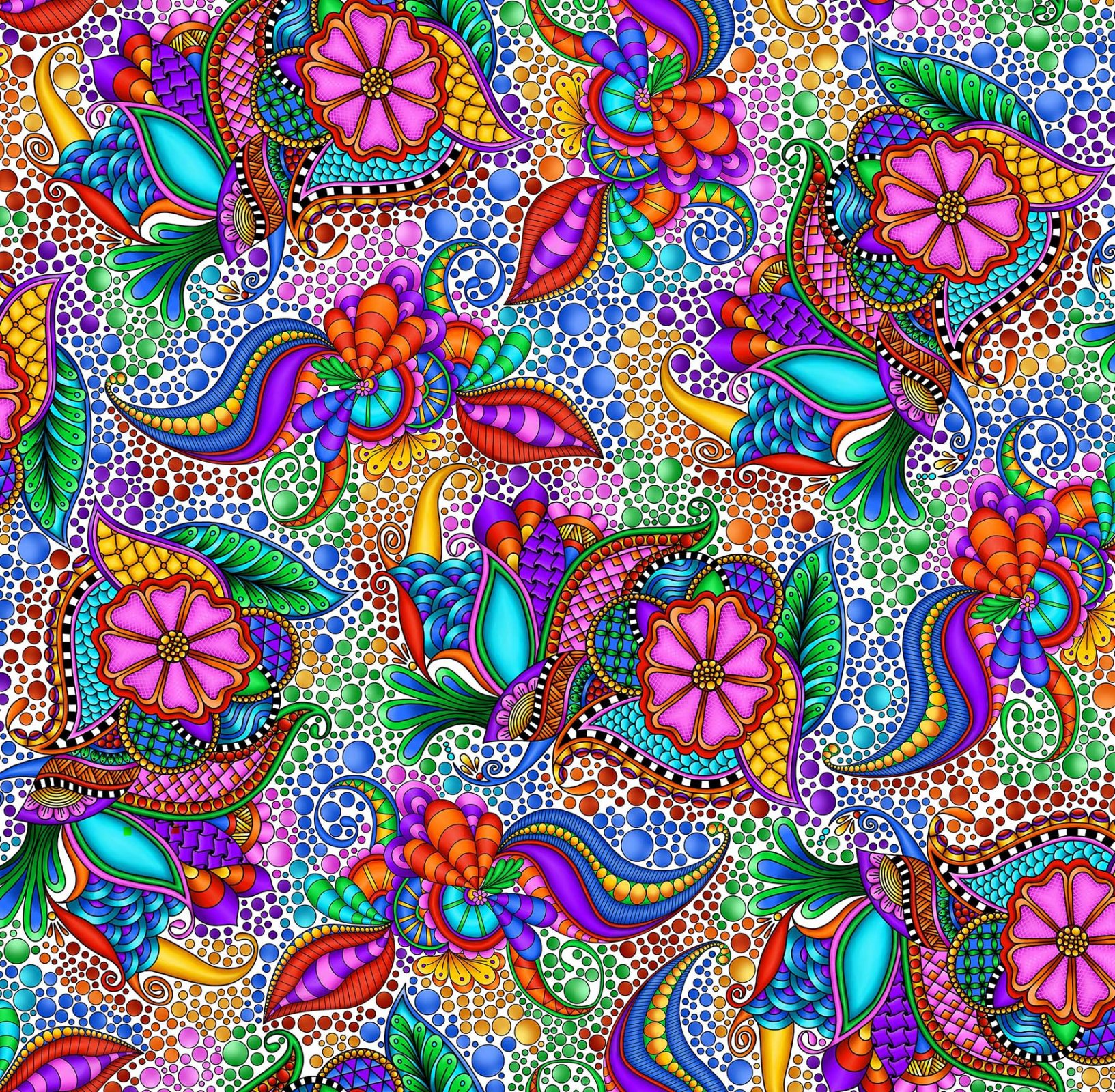 Quilting Treasures- Carnivale 1649-26369-ZX