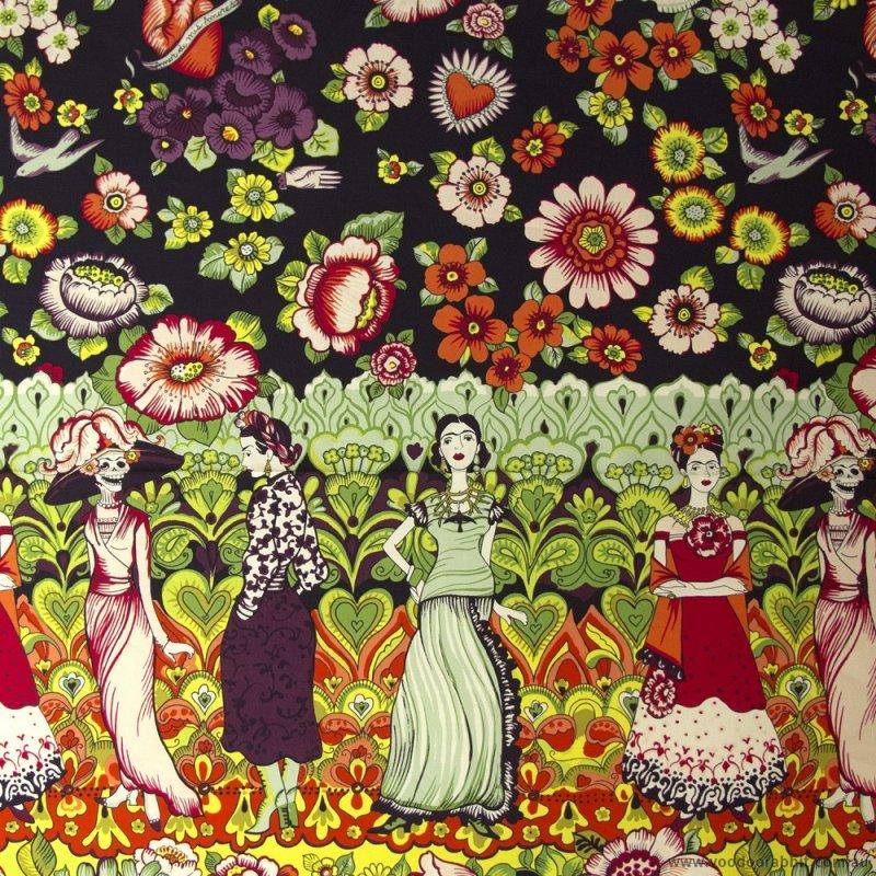 Alexander Henry: Folklorico - A Frida La Catrina - 7920 A-  Panel