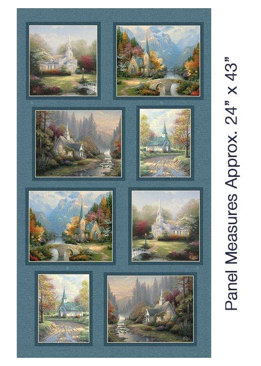 Benartex-Inspirations for Living-03034 55 Hometown Chapel Panel