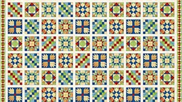 Northcott-A Stitch in Time 39357 11 Panel