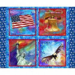 3 wishes fabric-American Icons 14497-Multi Panel
