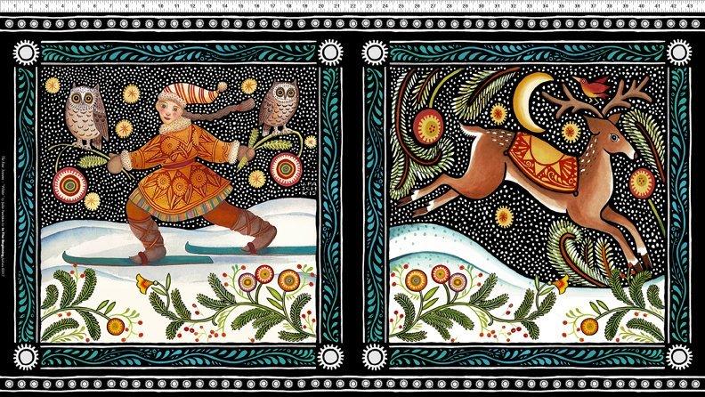 In The Beginning Fabrics- The Four Seasons 40JPI 1 Winter Panel