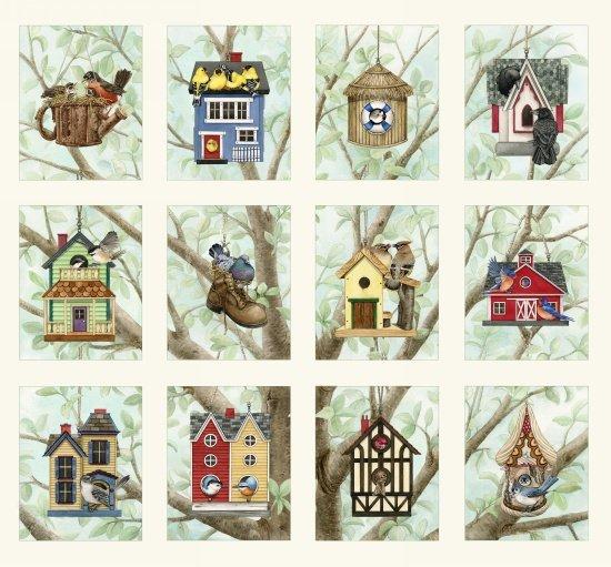 Elizabeth's Studio- Beautiful Birds-Housing Boom 4319 Cream Panel