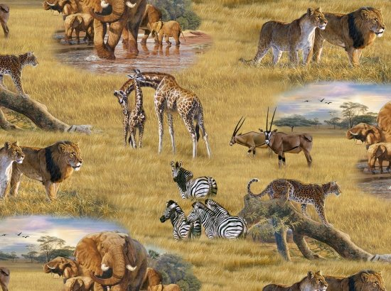 Elizabeth's Studio- African Animals 5015Multi