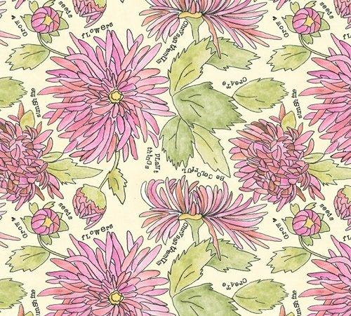 Windham Fabrics Peony Chrysanthemums 51655-4