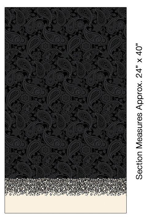 Benartex-Border Paisley Black 5499R 12