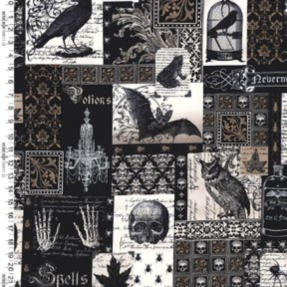 Nevermore Fabric- Gypsy Sling Purse KIT
