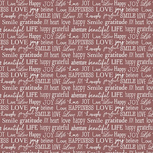 Contempo-Words to Live By-Tiny Words Red 07705 10