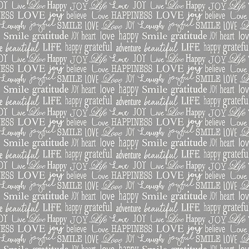 Contempo-Words to Live By-Tiny Words Grey 07705 11