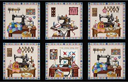 Elizabeth's Studio-A Stitch in Time 3326 Black Panel