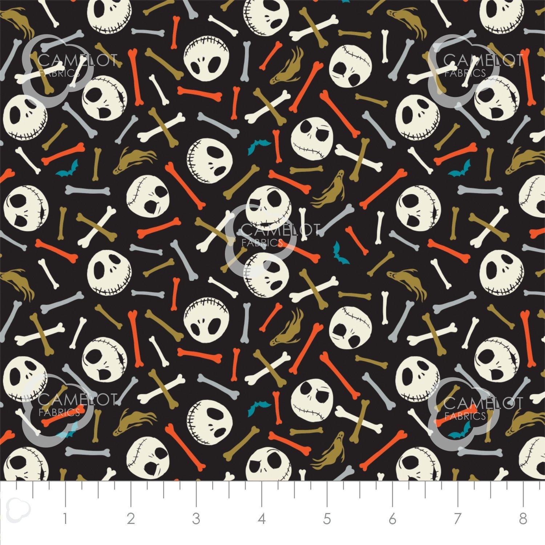Camelot Fabrics: Jack Is Back-Skull & Bones 85390301R -01