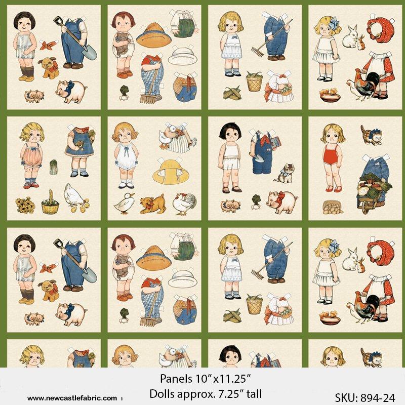 Newcastle - Paper Doll Farm - 894-24 Panel