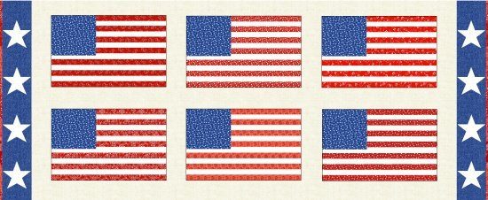 Henry Glass & Co.- Red/Blue Let Freedom Ring Panel 9940P-87