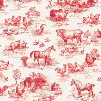 Robert Kaufman-Down on the Farm AGBD-18645-3 Red