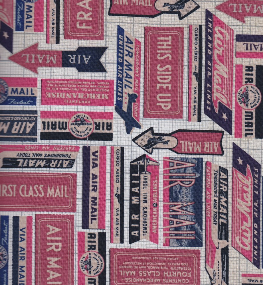 Eclectic Elements- Tim Holtz Correspondence- Air Mail PWTH041.8REDX