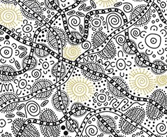 M&S Textiles- Australia- Bush Tucker White -BTW Designed by June Smith