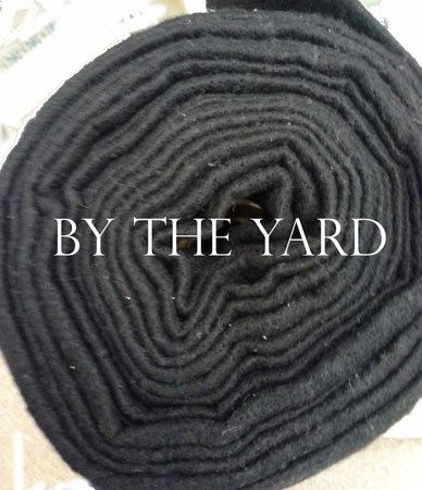 Black 60% Cotton 40% Poly Batting B96CPB-Y  (Yardage) 36 X 96