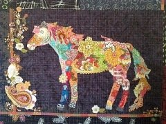 Fiberworks- Confetti Horse Collage Pattern by Laura Heine