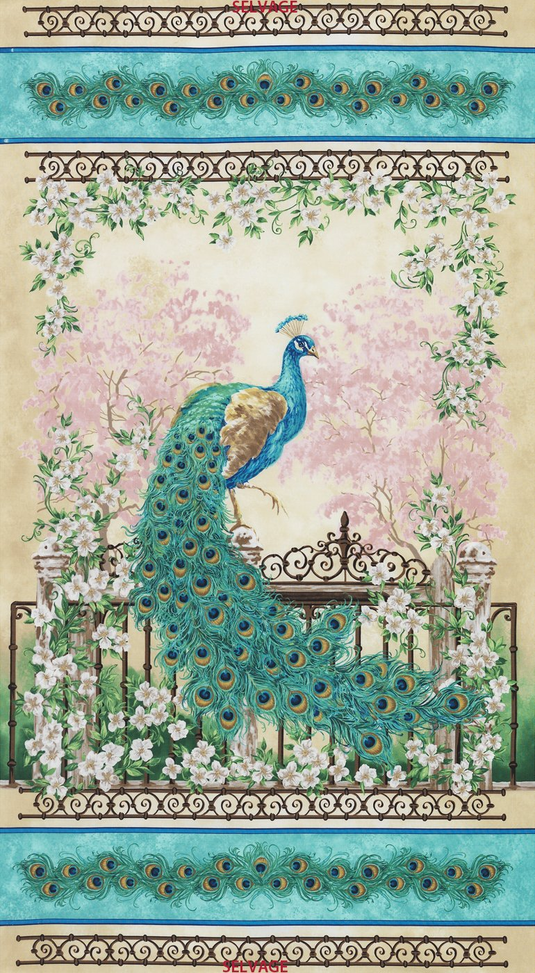 Timeless Treasures- Jewel of the Garden-Dona--C3245 Panel