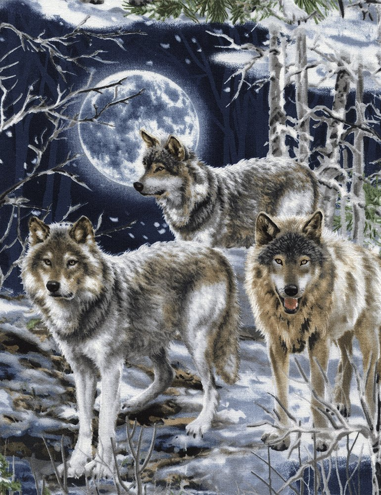 Timeless Treasures- Dona-C4889 Wolf