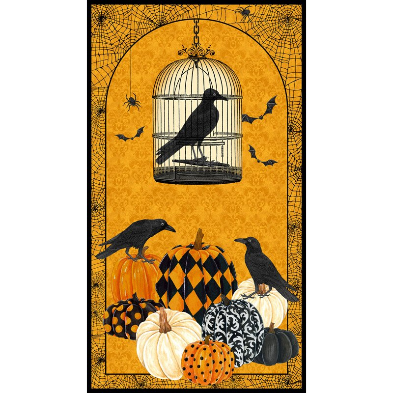 Northcott- Raven's Claw DP22859 54 Orange Digital Print